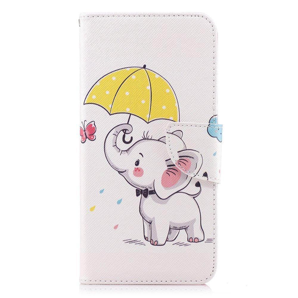Case untuk Samsung Galaxy A6 2018 Desain Kreatif Dicat Berdiri Flip PU Dompet Kulit Case Cover ...