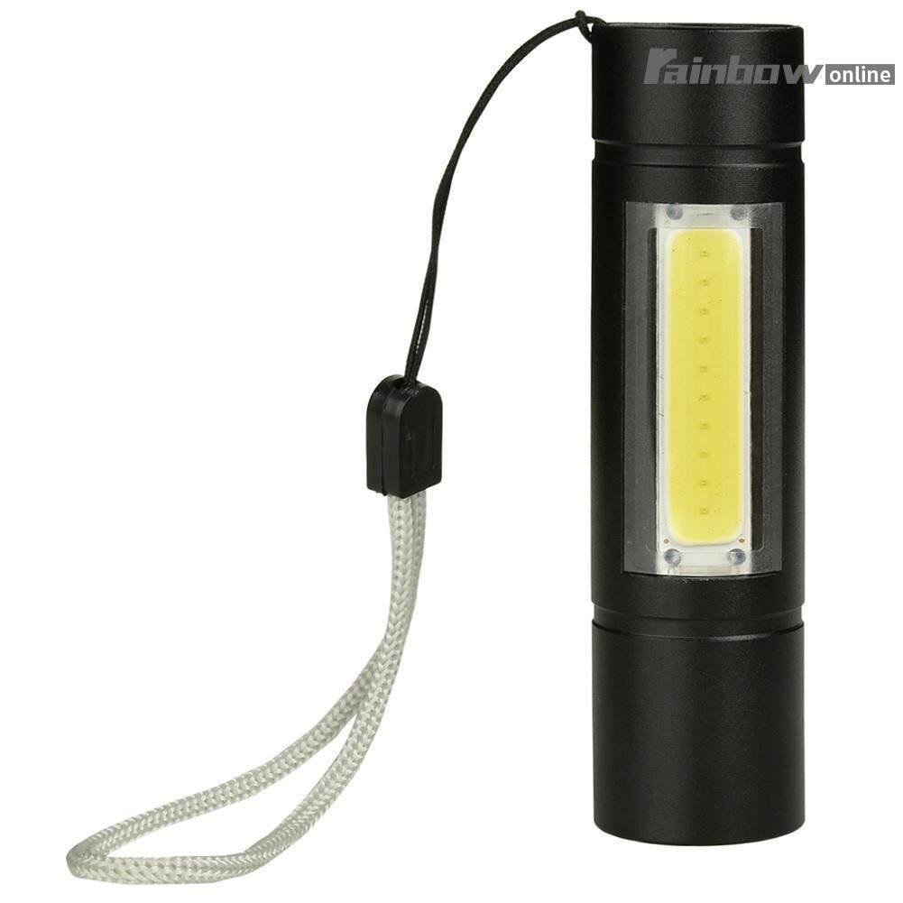 Usb แบบพกพา รีชาร์จได้ Xpe+cob Led พร้อม Flashlight Torch Inspection Lamp By Rainbowonline.