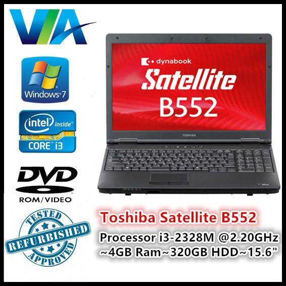 Refurbished Laptop Toshiba B552 Core i3~4GB~320GB~Win7 Pro Malaysia