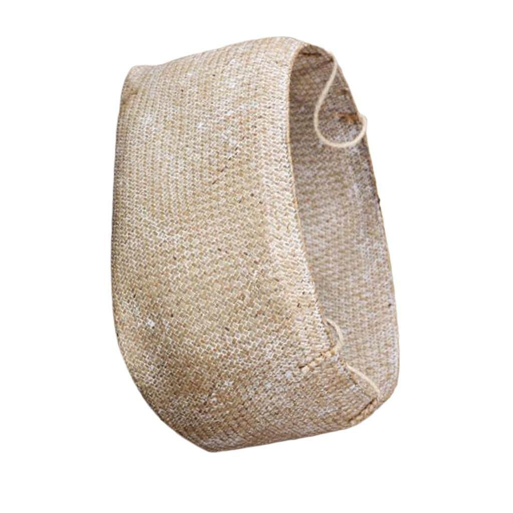 BolehDeals Seagrass Belly Basket Flower Planter Toy or Laundry Storage Basket White L