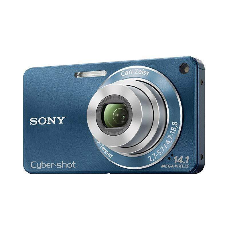 Sony DSC-W350 14.1MP Digital Camera with 4x Wide Angle Zoom with Optical Steady Shot Image Stabilization and 2.7 inch LCD (Blue) , Blue