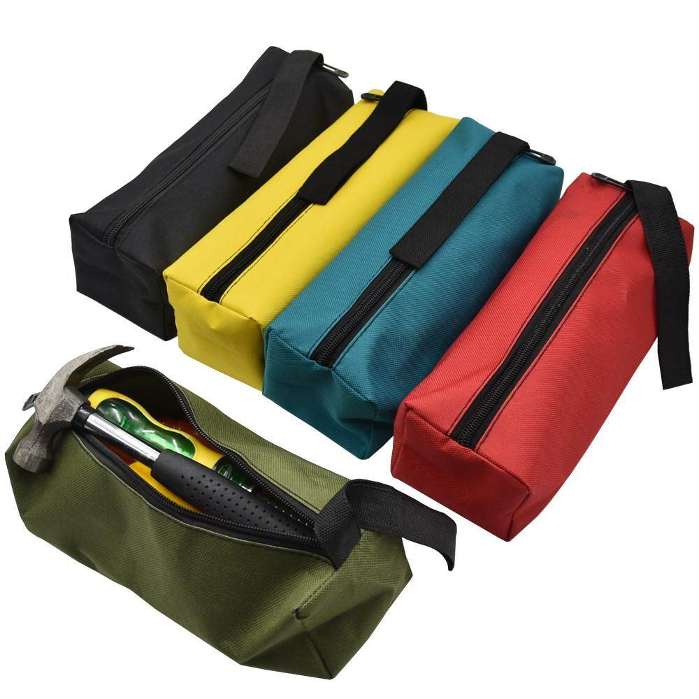 Oxford Canvas Waterproof Storage Hand Tool Bag Screws Metal Parts Fishing Travel Makeup Organizer Pouch Bag Case