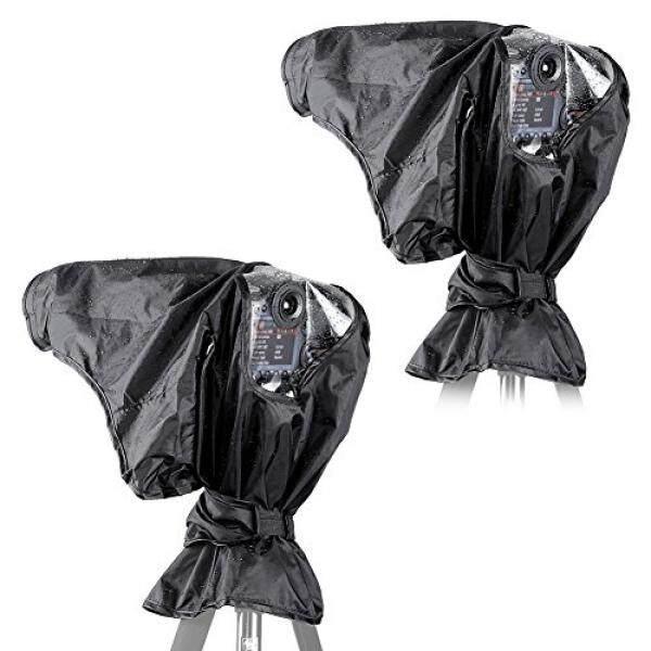 Neewer®2 Pieces Pelindung Hujan Yg Tahan Hujan Pelindung Kamera untuk Perkakas Bertualang Pentax Olympus Fuji dan Digital SLR Kamera dan Lensa Hingga 257 MM Panjang dan 95 Mm Diameter Lensa-Intl