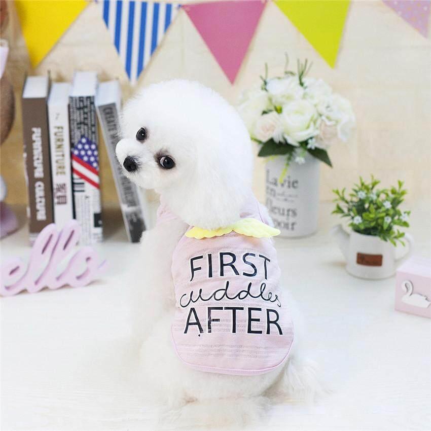 Hình ảnh Cute Angel Pet Dog Clothes Summer Dog Shirt Chihuahua Yorkie Small Puppy Vest Clothing S-XXL