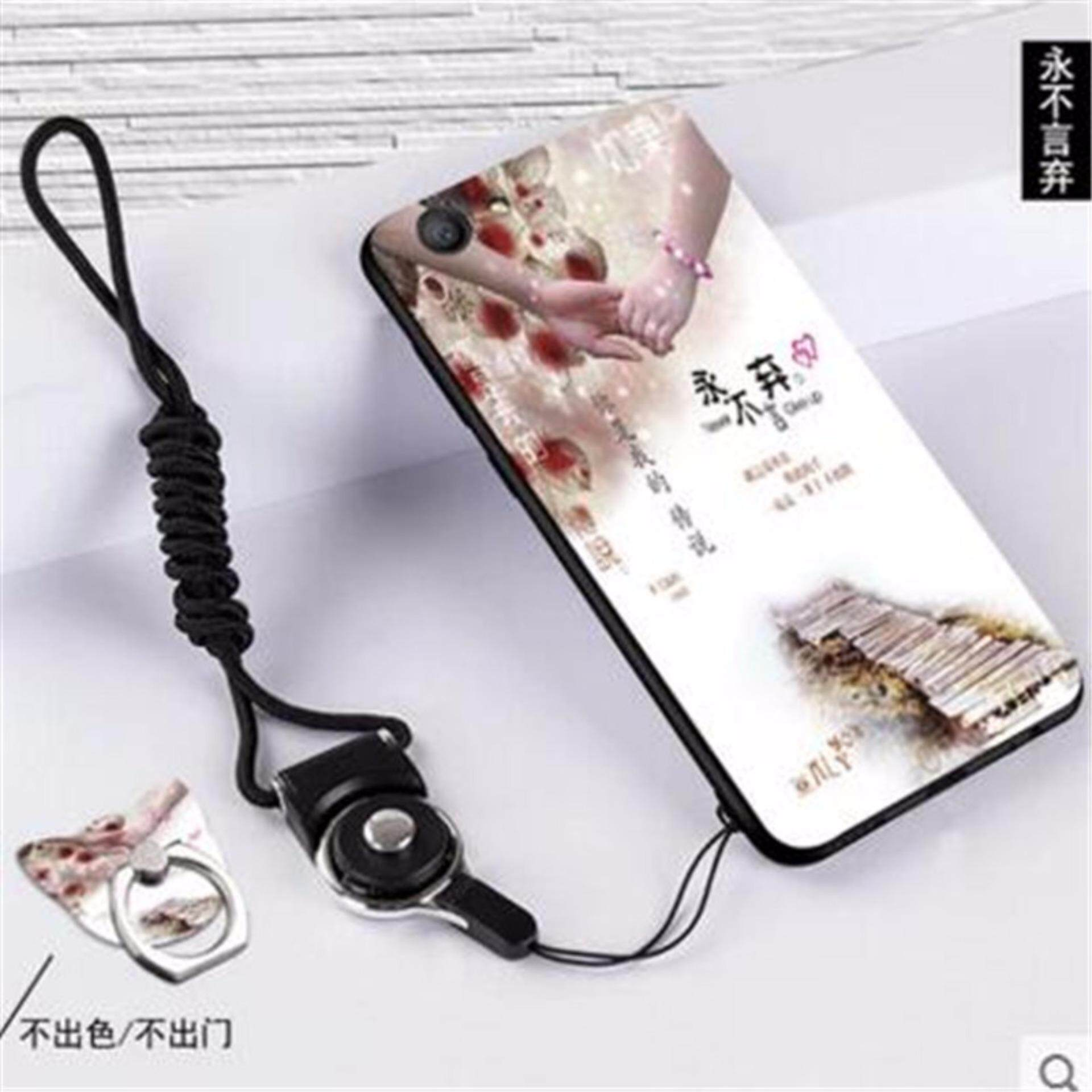 Silica Gel Soft Phone Case for Vivo Y71 with a Rope (Multicolor) - intl