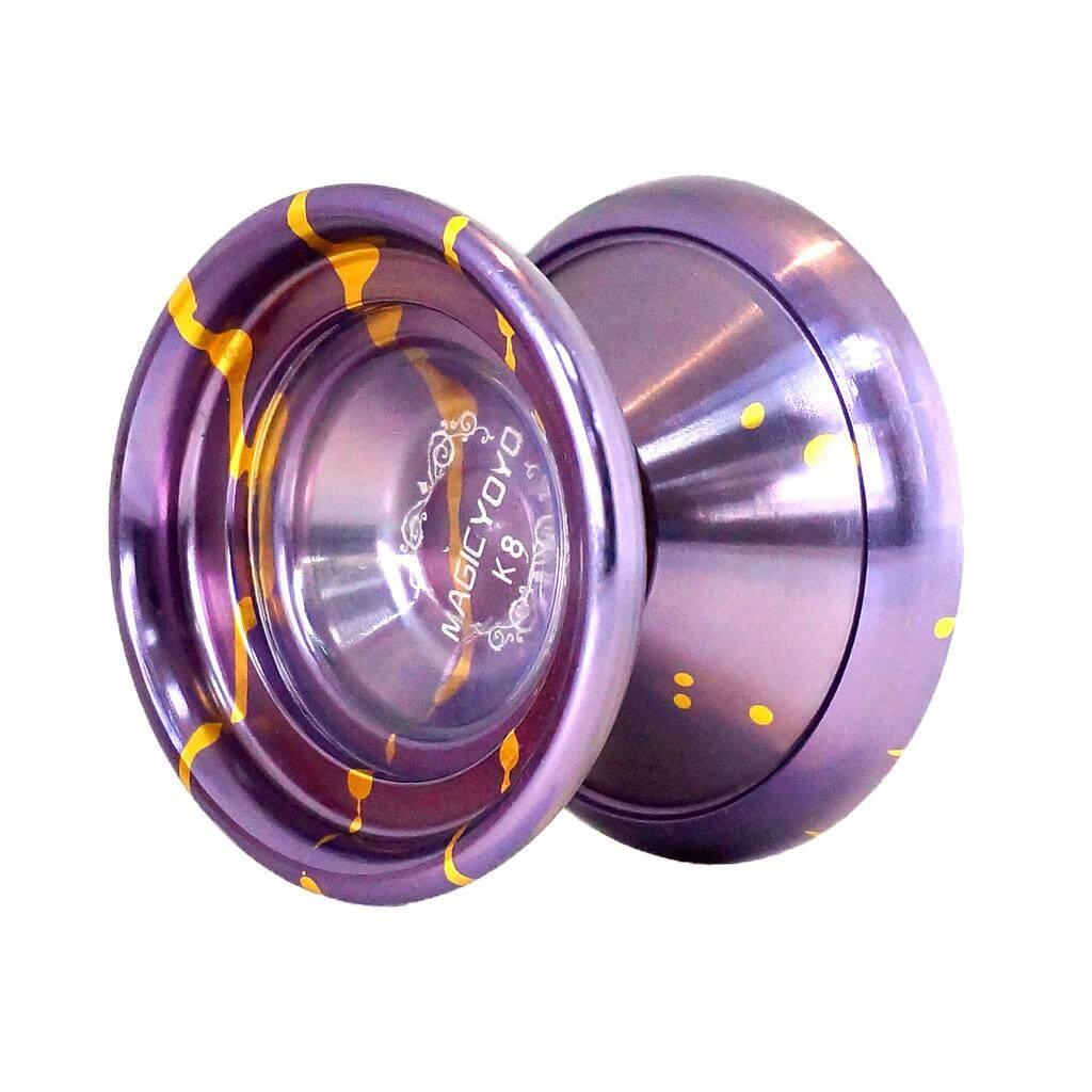 MagiDeal MAGICYOYO YOYO Ball Pro K8 Polished Alloy Yoyos Balls KK Bearing String Trick 1A, 3A, 5A kids Juggling Toy with Strings Purple