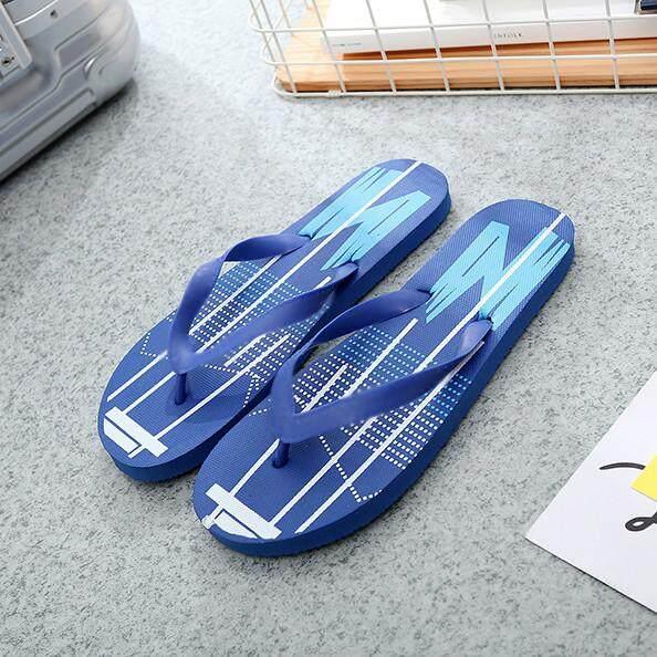 RHS Online Pria Anak Laki-laki Musim Panas Pantai Datar Flat Heel Sandal Jepit Sepatu Sandal Sandal untuk Pria-Internasional