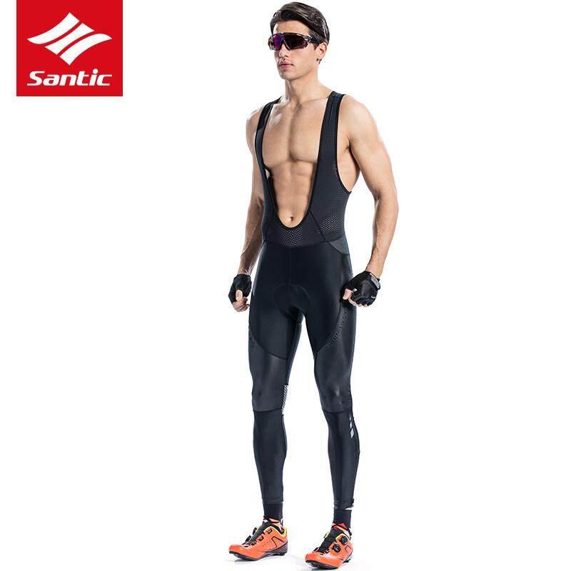 Santic Cycling Spring Summer Mens Bike Cycling bib shorts Straps Cycling Jacket Breathable