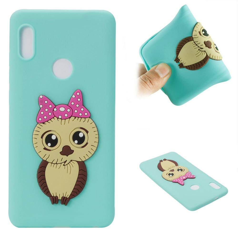 Fitur For Xiaomi Redmi Note 5 Pro Mi A2 6x Cute Case Ipaky Carbon Fiber Softcase Shockproof Tpu Backcase Owl