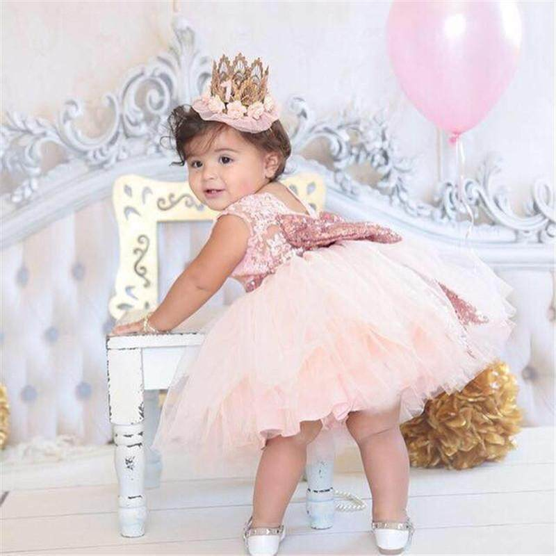 LanDen Children Clothes Girls Dresses Birthday Party Children s Dresses  Sequins Sleeveless Princess Dresses LA06LAWZX110 - intl 7ee83e7a7