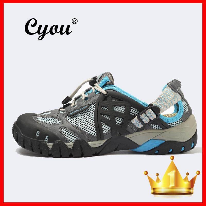 Cyou Ukuran Besar 39-47 Pria Wanita Sepatu Sneaker Outdoor Berpori Sepatu Mendaki Wanita Outdoor Sandal Naik Gunung Trekking Trail Air Sandal Tahan Air -Intl