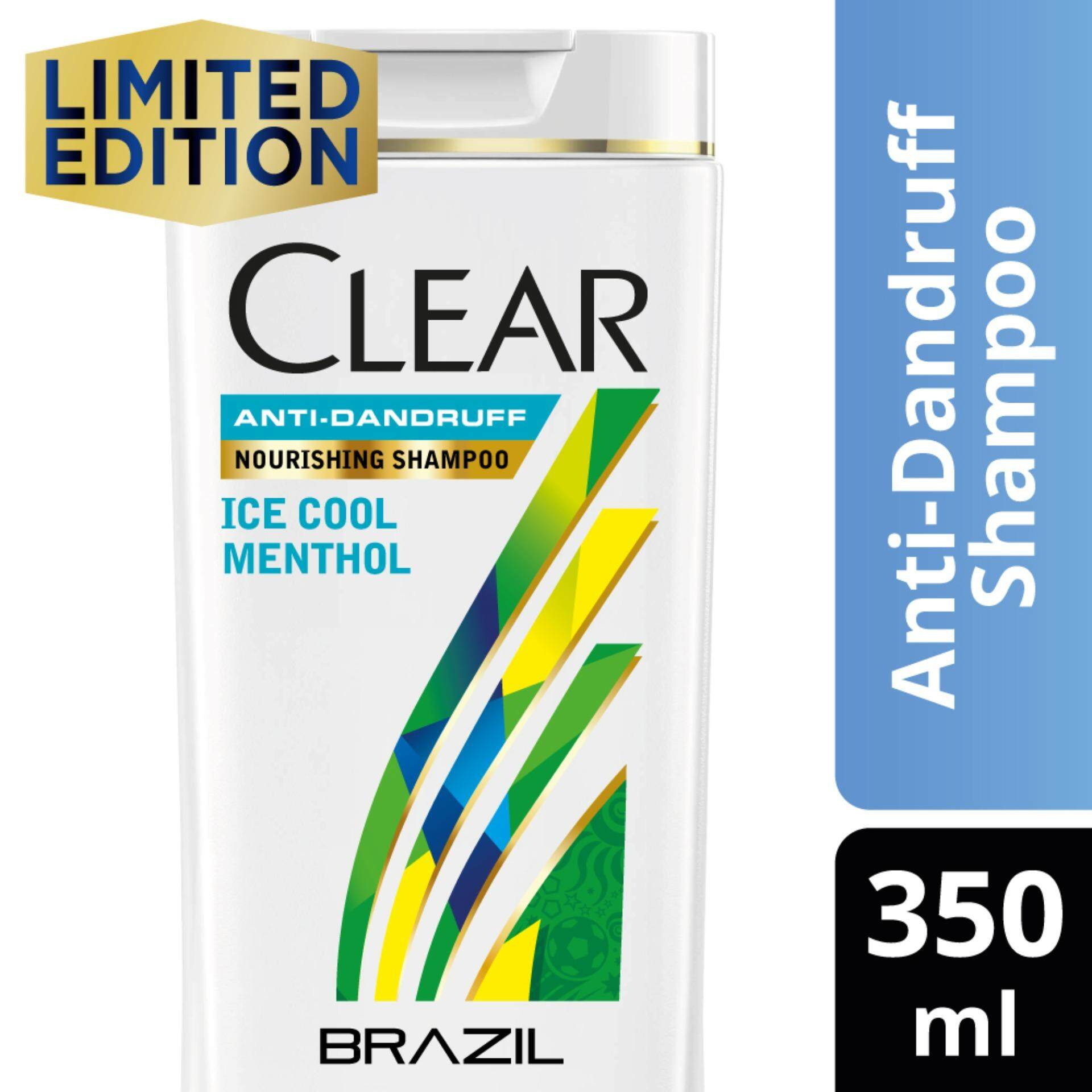 Features Clear Men Cooling Itch Control Anti Dandruff Shampoo 350 Ml Ice Cool Menthol