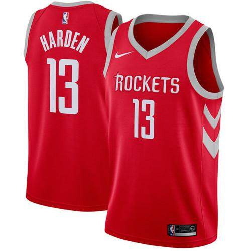 Nike Original Men Houston Rockets James Harden 13 Red Swingman Basketball Jersey - Icon Edition S-2xl Comfortable By Pqqrvokb.