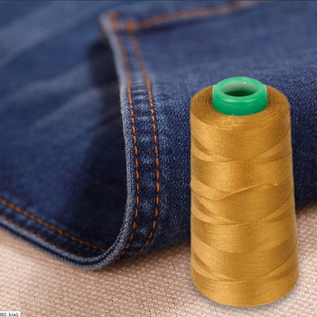 Magideal Spool Of Polyester Jeans Sewing Thread For Sewing Machine 20s/2 Gold - Intl By Magideal.
