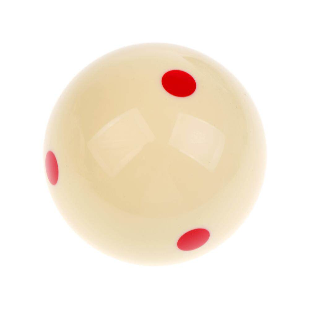 Miracle Shining New Billiards 6 Dot Pool Cue Training Ball 52mm Beige Quality Resin.