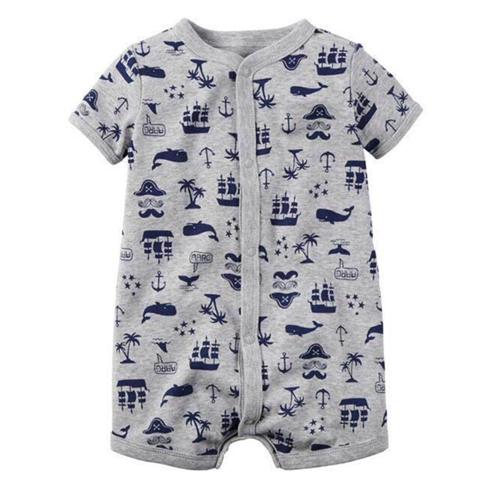 Rd Baby Unisex Floral Printing Jumpsuit Rompers Short Sleeve Soft Cotton Clothes By Redcolourful.