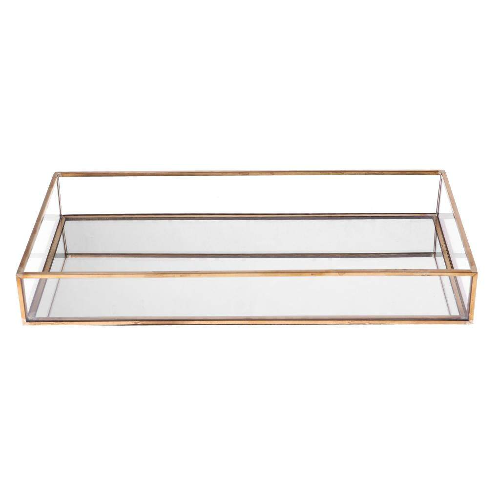 BolehDeals Rectangle Glass Jewelry Box Jewelry Tray Tabletop Succulent Plant Planter Box