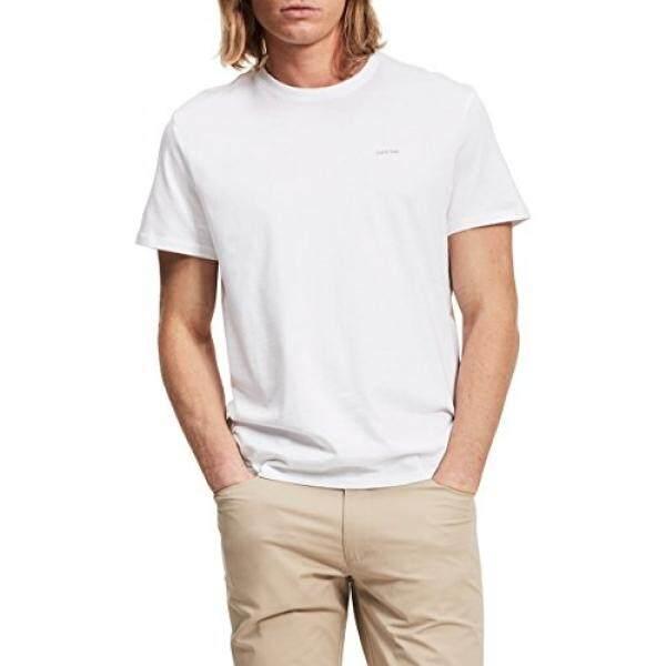 Calvin Klein Mens Short Sleeve Pima Cotton T-Shirt, White, - intl