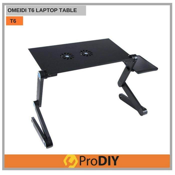 OMEIDI T6 Portable Foldable Cooling Fan Laptop Table Malaysia