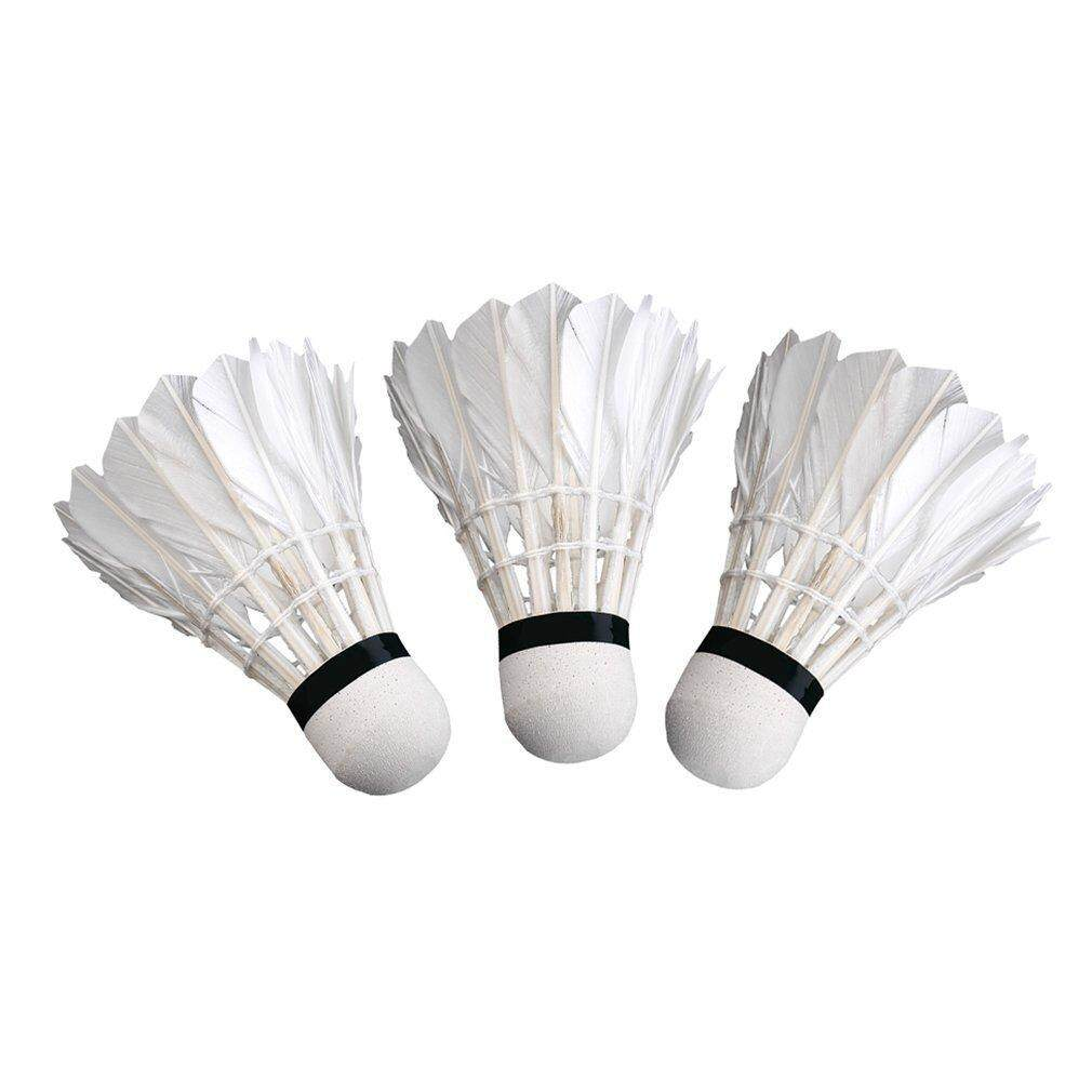 Makeac 3pcs Game Sport Training White Duck Feather Shuttlecocks Badminton Ball By Makeacall.