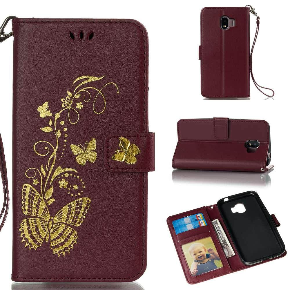 Case for Samsung Galaxy J2 Pro 2018 PU Leather Dream Butterfly Pattern Wallet Card Slots Flip Case Cover - intl ...