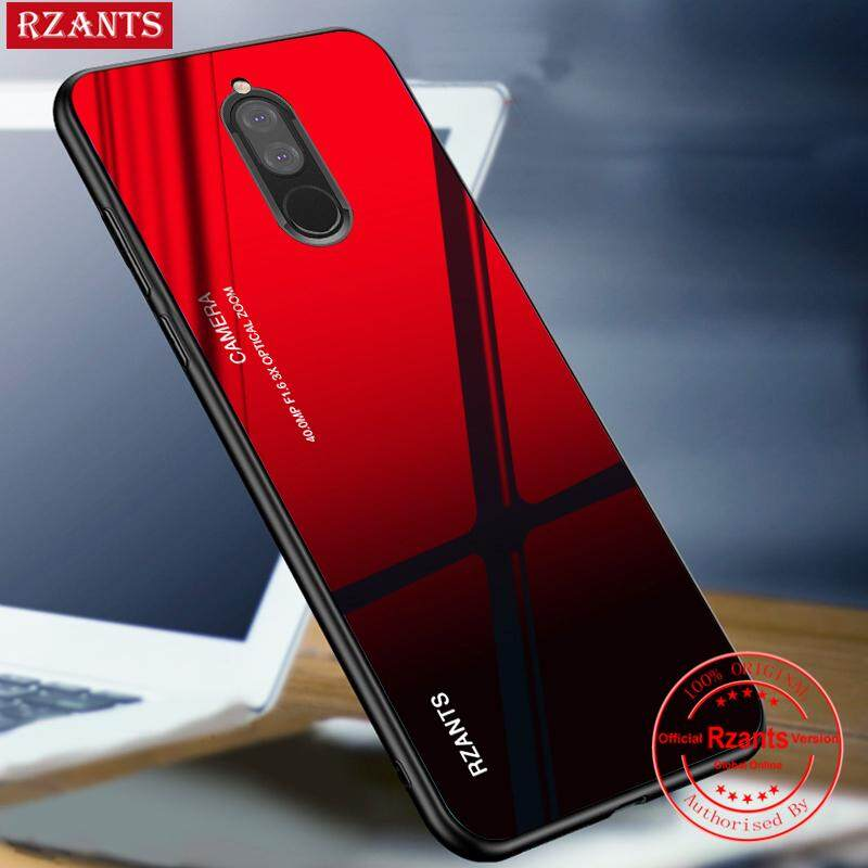 Rzants untuk Huawei Nova 2i Case【Gradient】Hybrid Protective Tempered Glass Ultra-thin light Hard Back Phone Casing