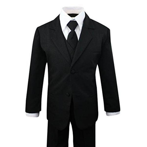 Luca Gabriel Toddler Boys 5 Piece Classic Fit Formal Dress Suit Set - Size 8