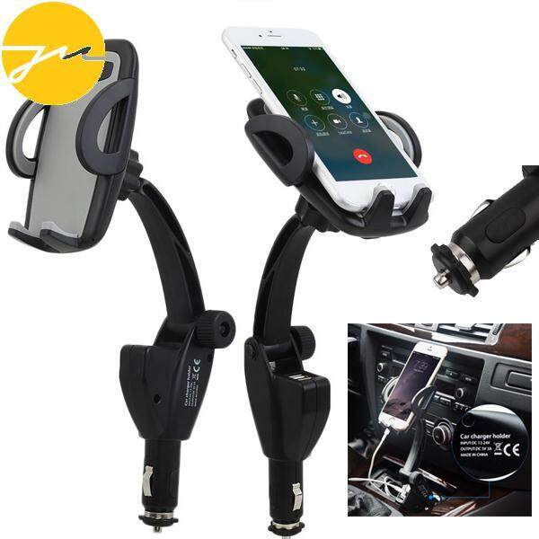 2USB Ports 3A Universal Car Auto Charger MPS GPS Mobile Cell Phone Holder