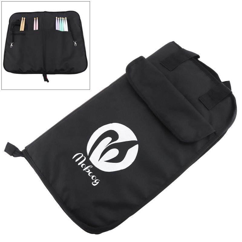 Black Canvas Drumstick Backpack Bag Jazz Drum Stick Music Book Storage Large Capacity Handbag - intl