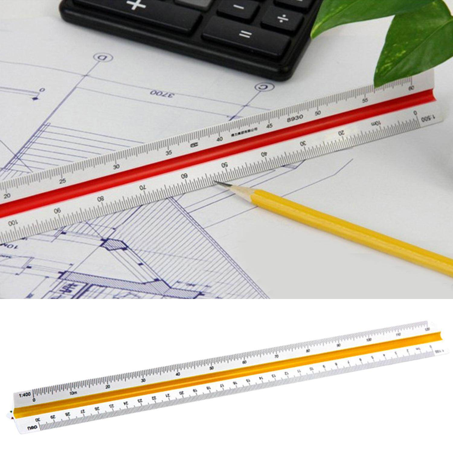 30cm Triangular Architect Scale Ruler Ideal For Architects Engineers Draftsman And Students - intl