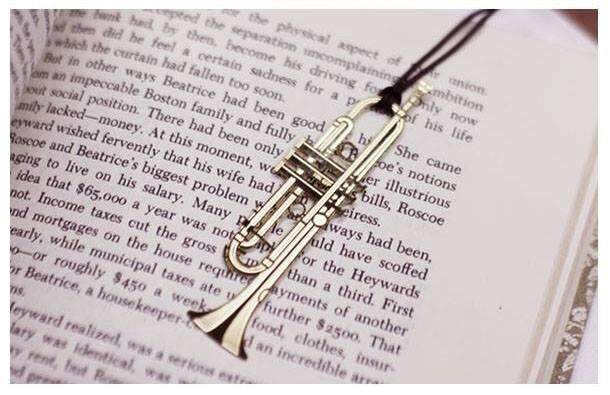 Gold Trumpet Bookmark