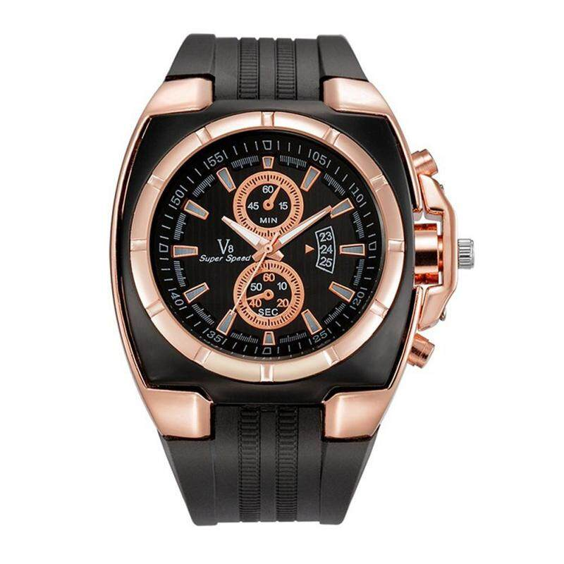 BODHI Students Unisex Sports Pin Buckle Silicone Outdoors Analog Quartz Wrist Watch (Rose Gold) Malaysia