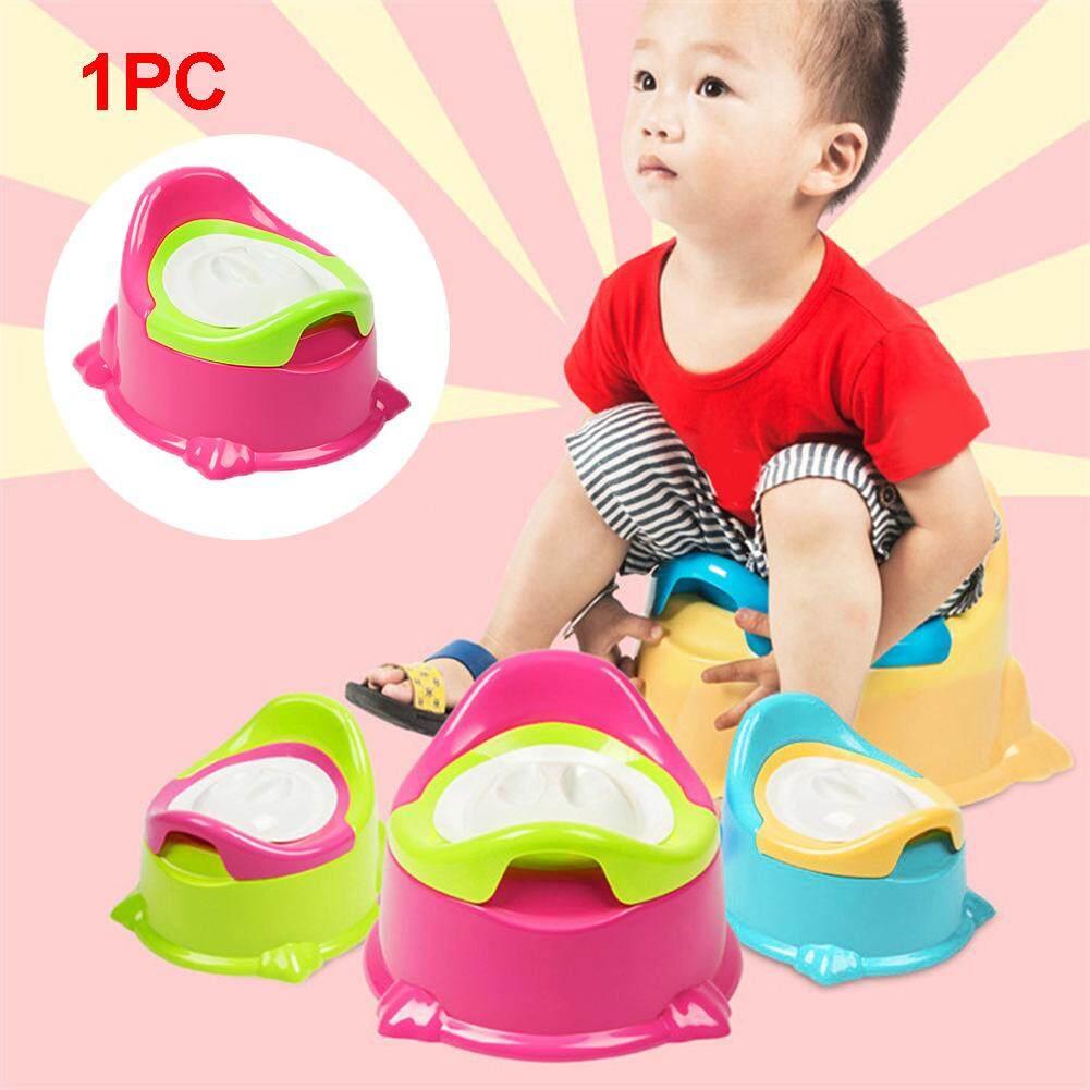 Anak-anak Balita Bayi Anak Pispot Plastik Pelatih Toilet Kursi Latihan Biru .