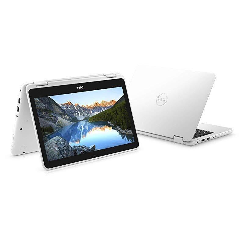 "2018 Dell Inspiron 3000 11.6"" 2-in-1 Touchscreen Laptop/Tablet PC, 7th Gen AMD A6-9220e 2.5GHz Processor, 4GB 2400MHz DDR4, 32GB SSD, Bluetooth, WiFi, MaxxAudio, Windows 10-Sparkling White"