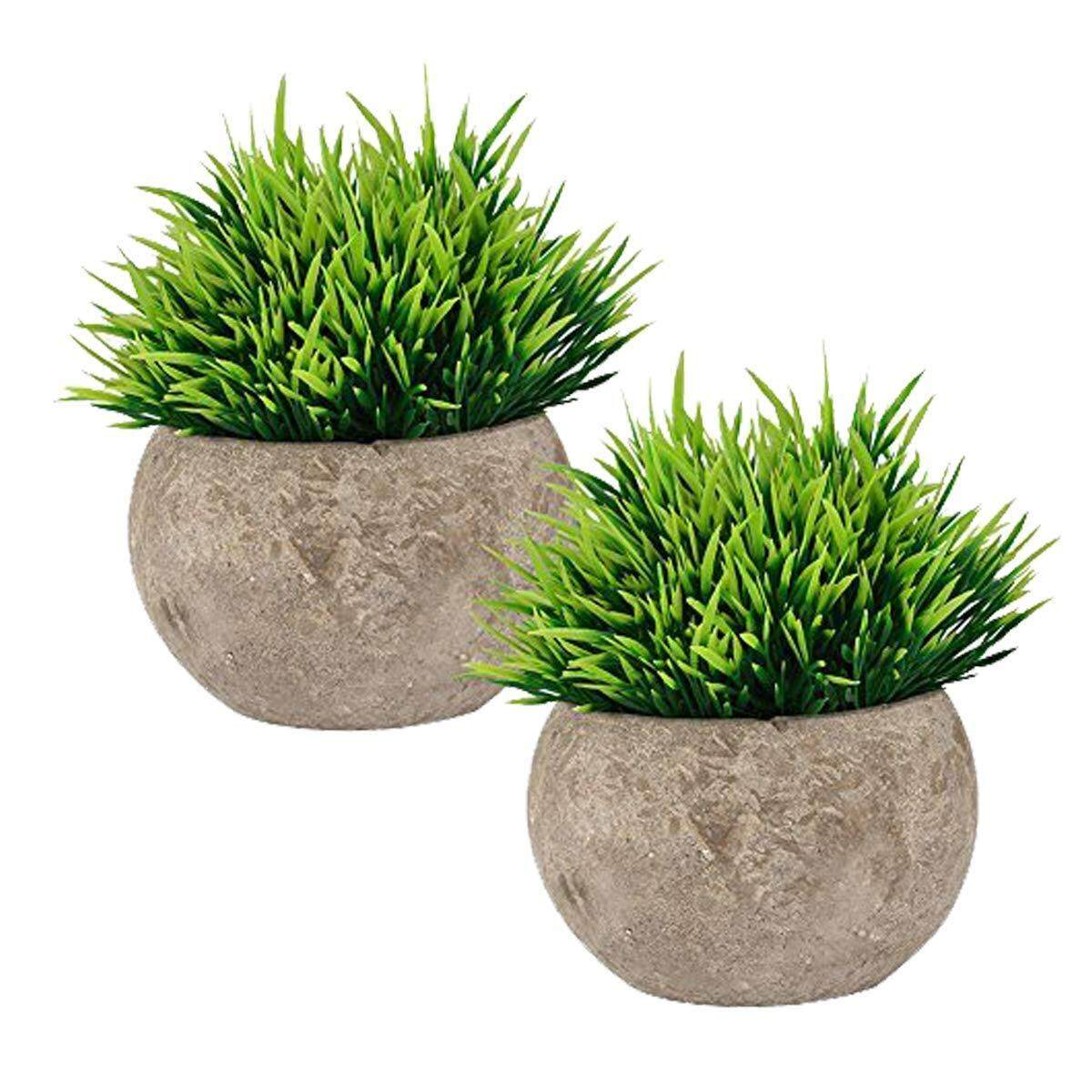 Fake Plant for Bathroom/Home Decor, Small Artificial Faux Greenery for House Decorations (Potted Plants) Free Shipping