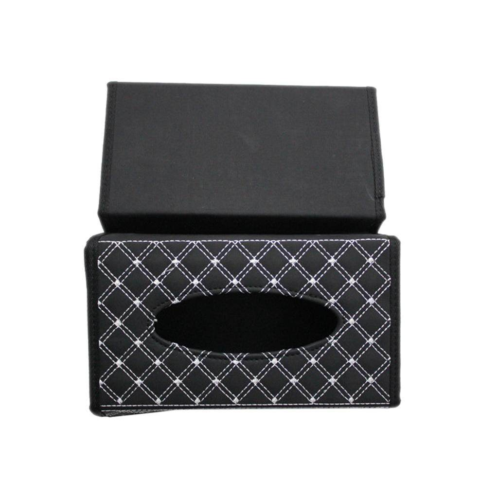 BolehDeals PU Leather Tissue Box Cover Home Car Napkin Toilet Paper Holder Case 2 Colors