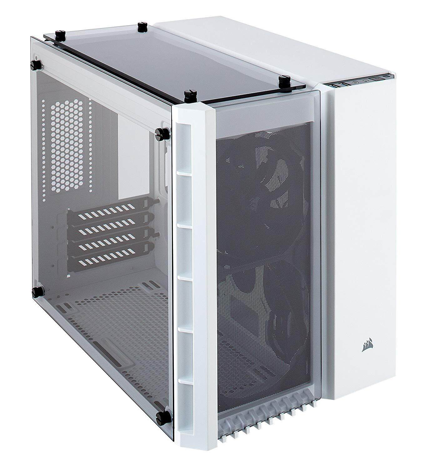 # CORSAIR Crystal Series 280X Tempered Glass Micro ATX PC Case # Black | White Malaysia