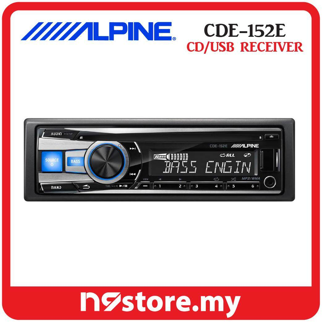 Alpine CDE-152E Single Din CD USB AUX Ipod Controller Car Stereo Receiver