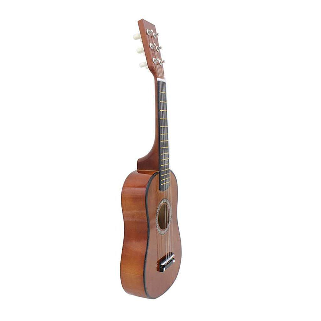 Miracle Shining 23inch 6 String Acoustic Guitar for Children Kids Educational Toys Coffee