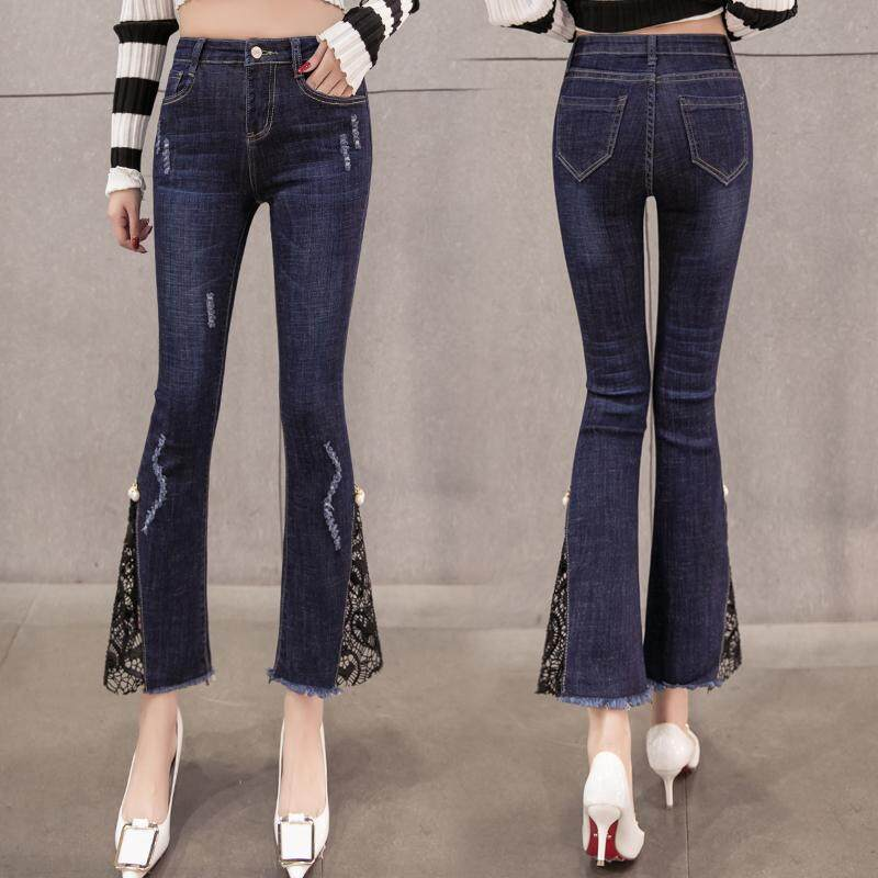 Wxian Womens High-Waist Single-Breasted Stretchy Fit Jeans
