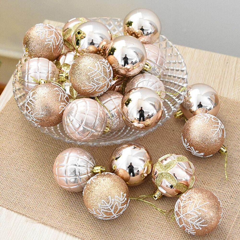 Greatsell Christmas 24 Balls Wreath Door Wall Ornament Garland Decoration