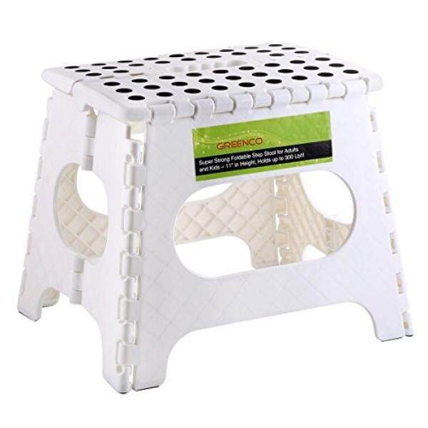 Greenco Super Strong Foldable Step Stool for Adults and Kids, 11, White - intl
