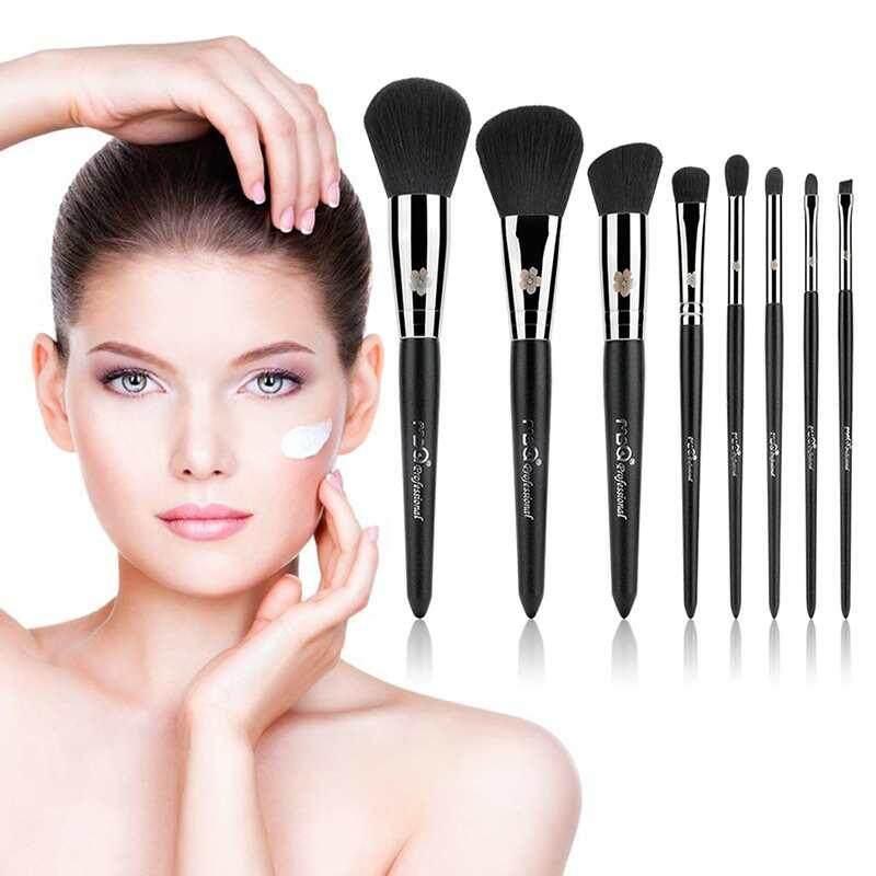Dongxi MSQ 8pcs Makeup Brushes Set Powder Foundation Eyeshadow Eyeliner Lip Concealer Brush Tool Artificial Fiber