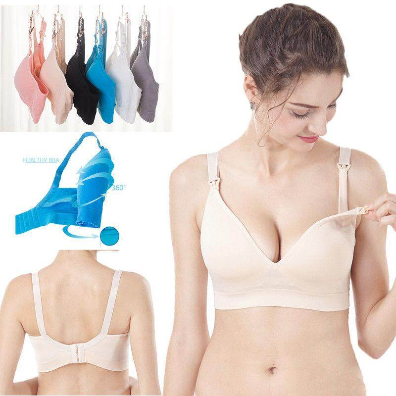 78a115cbf404d New Seamless Nursing Maternity Bra Breastfeeding Removable Pads Comfortable  Cup