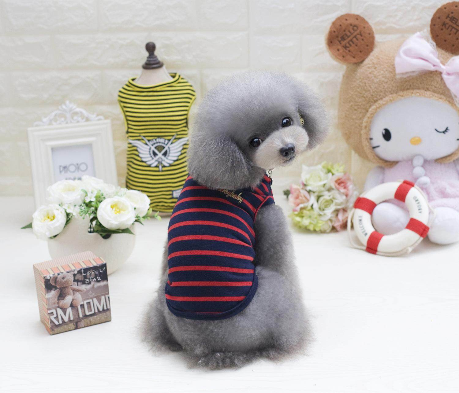 Hình ảnh Popular Summer Striped Pet Vest Clothes For Small Puppy Dogs Clothing Apparel
