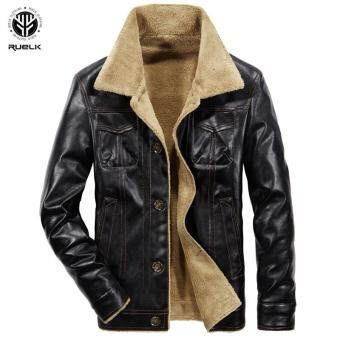 1cfdbeae3 การส่งเสริม Shi bel Ruelk Men Tactical Pu Leather Jacket Winter ...