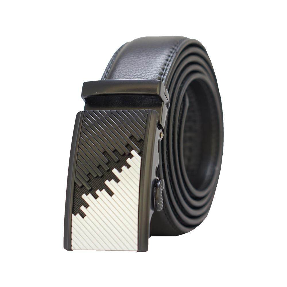 [100% CALF LEATHER] Premium Quality Best Seller MB038 Business Men Leather Belt [BLACK/READY STOCK] - Adjustable Strap for Size S , M , L , XL