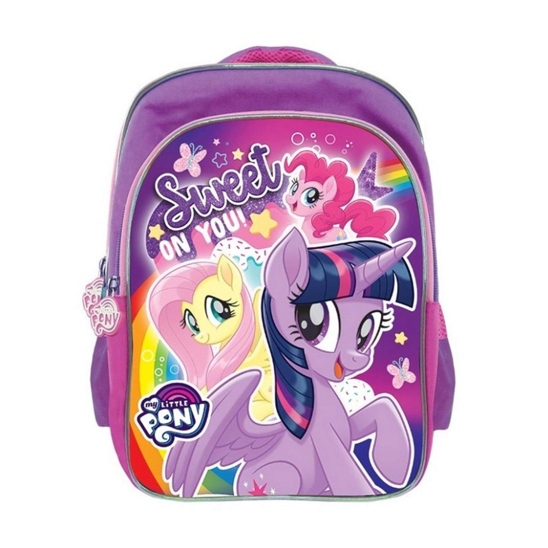 296c59ae88e2 My Little Pony Backpack School Bag 12 Inches - Purple Colour