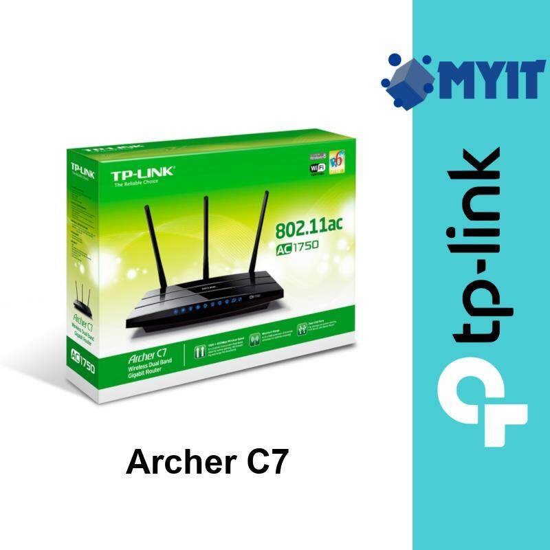 TP-Link Archer C7 AC1750 1750Mbps Wireless AC Dual Band WiFi Network Router 3 Antenna for Unifi Maxis Time IPv6 Ready (4 LAN 2 USB)