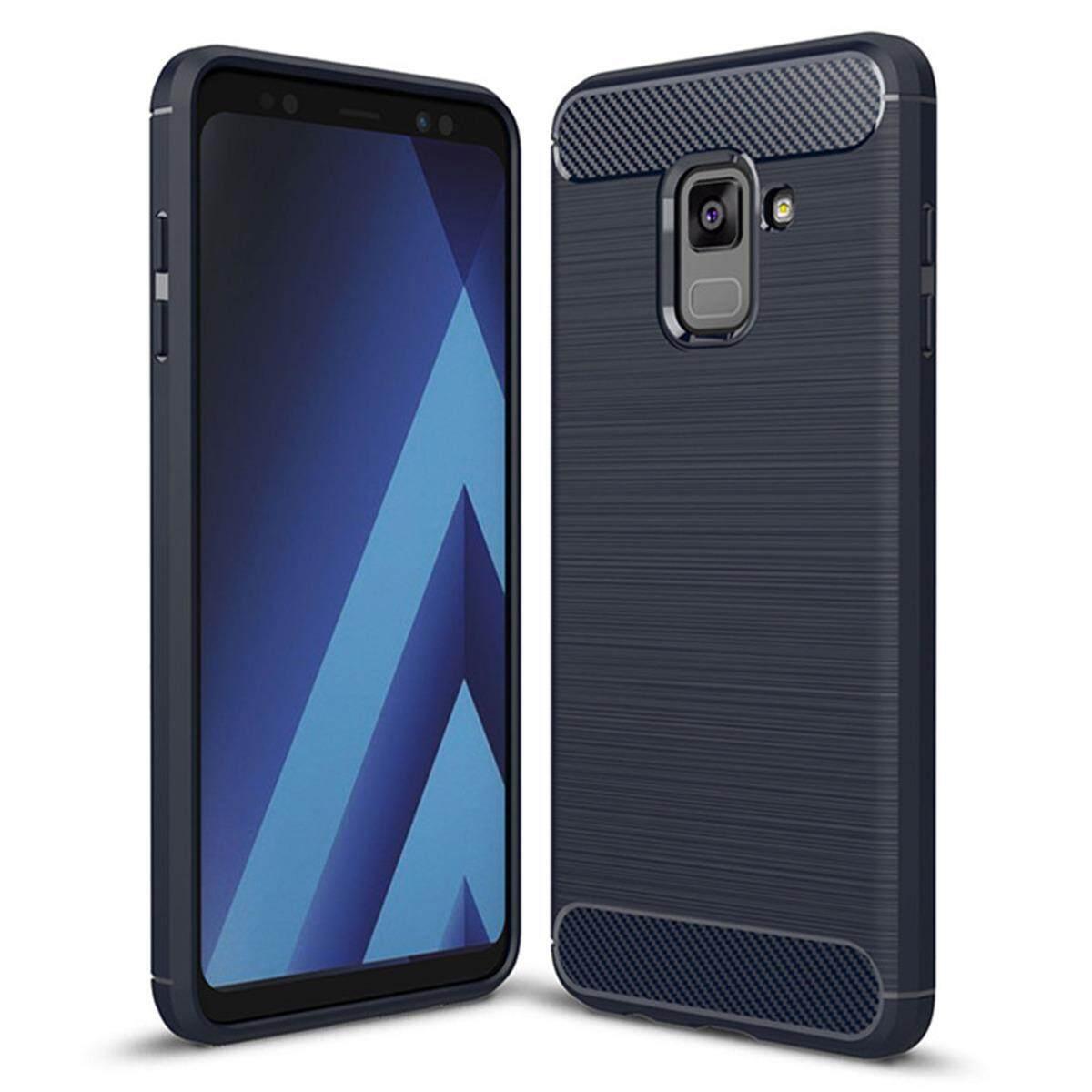 Hình ảnh for Samsung Galaxy A8 Plus(2018 Version) Case Carbon Fibre Hairline Ultrathin Soft TPU Back Case Cover, Light, Minimalist, Non-slip, Shockproof, Anti-scratch